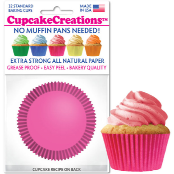 Picture of BAKING CUPS - STANDARD - PINK 32/PKG