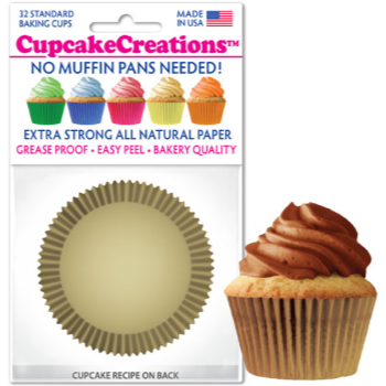 Picture of BAKING CUPS - STANDARD - GOLD 32/PKG