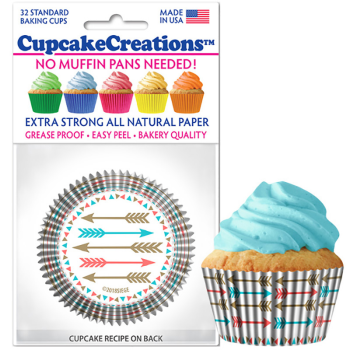 Picture of BAKING CUPS - STANDARD - PASTEL ARROWS  32/PKG
