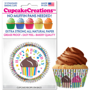 Picture of BAKING CUPS - STANDARD - HAPPY BIRTHDAY   32/PKG