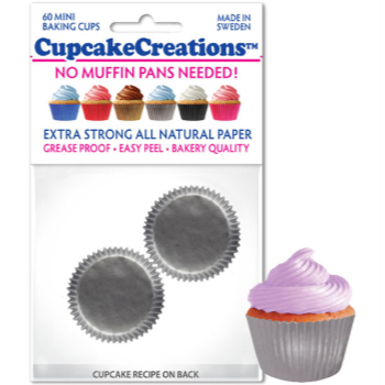 Picture of BAKING CUPS - MINI - SILVER 60/PKG