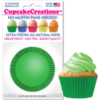 Picture of BAKING CUPS - STANDARD - GREEN 32/PKG