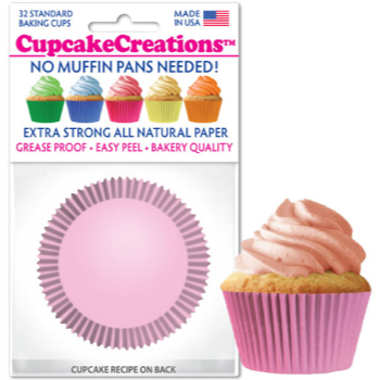 Picture of BAKING CUPS - STANDARD - LT PINK 32/PKG