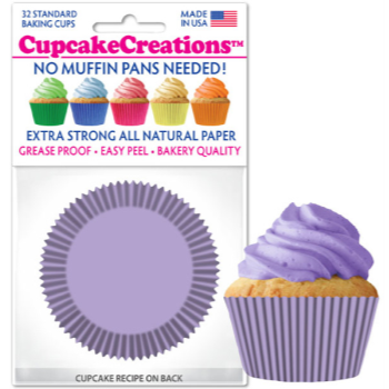 Picture of BAKING CUPS - STANDARD - LAVENDER 32/PKG