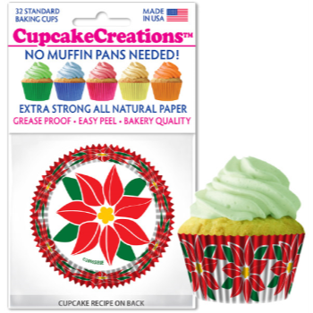 Image de TABLEWARE - BAKING CUPS - POINSETTIA