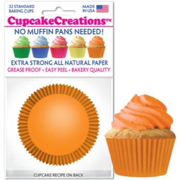 Picture of BAKING CUPS - STANDARD - ORANGE 32/PKG