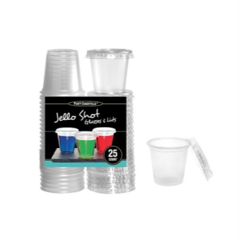 Picture of COCKTAIL - CLEAR - 2oz JELLO SHOT GLASSES WITH LIDS