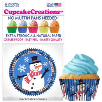Picture of TABLEWARE - BAKING CUPS - SNOWMAN