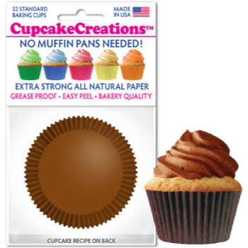 Picture of BAKING CUPS - STANDARD - CHOCOLAT BROWN 32/PKG