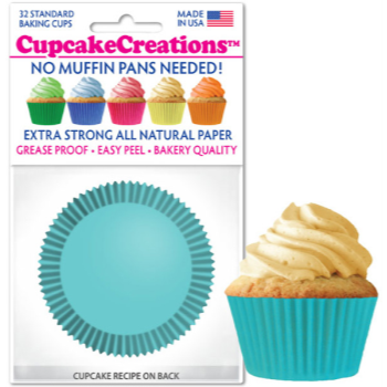 Picture of BAKING CUPS - STANDARD - LT TURQUOISE 32/PKG