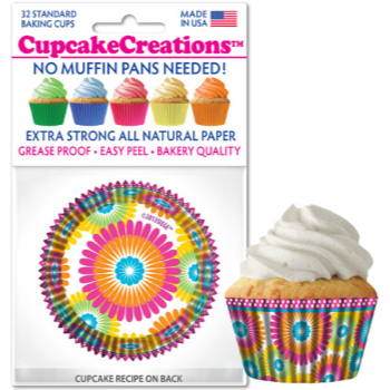 Picture of BAKING CUPS - STANDARD - COLOR BURST 32/PKG