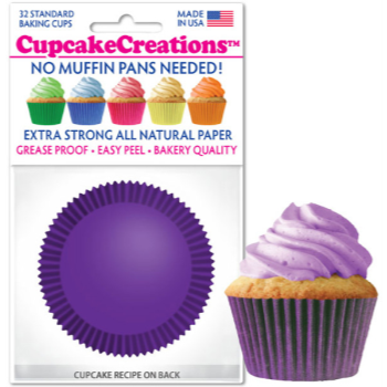 Picture of BAKING CUPS - STANDARD - PURPLE 32/PKG