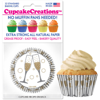 Image de TABLEWARE - BAKING CUPS - CHEERS CHAMPAGNE