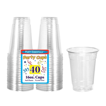 Picture of COCKTAIL - CLEAR 16oz CLEAR FLEXI PLASTIC CUPS