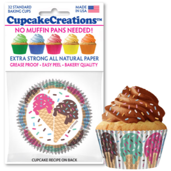 Picture of BAKING CUPS - STANDARD - ICE CREAM CONES  32/PKG