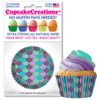 Picture of BAKING CUPS - STANDARD - MERMAID SCALES  32/PKG