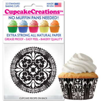 Picture of BAKING CUPS - STANDARD - DAMASK 32/PKG