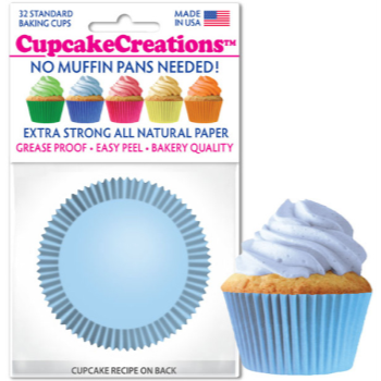 Picture of BAKING CUPS - STANDARD - LT BLUE 32/PKG