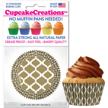 Picture of BAKING CUPS - STANDARD - GOLD FOIL 32/PKG
