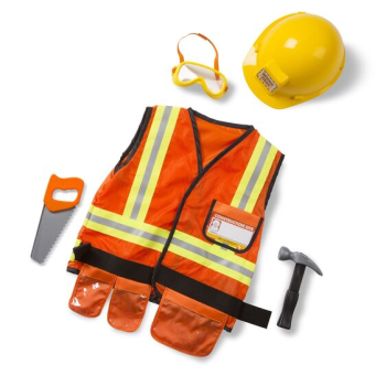 Image de ROLE PLAY COSTUME KIDS SETS - CONSTRUCTION WORKER