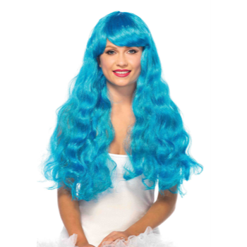 Picture of WIG - STARBRIGHT LONG WAVY - NEON BLUE