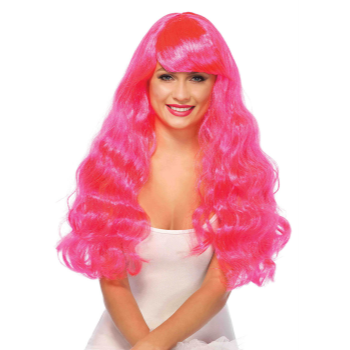 Picture of WIG - STARBRIGHT LONG WAVY - NEON PINK