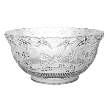 Image de SERVING WARE - CLEAR - EMBOSSED PUNCH BOWL 12qt