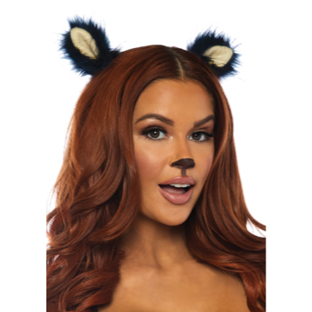 Image de ANIMAL FURRY EAR CLIPS - BLACK