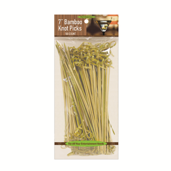 "Image de 7"" BAMBOO KNOT PICKS - 100CT"