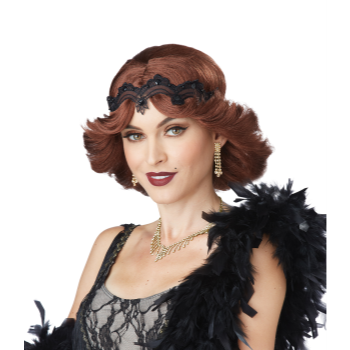 Picture of 20'S GLITZ/GLAMOUR WIG WITH HEADBAND - BRUNETTE