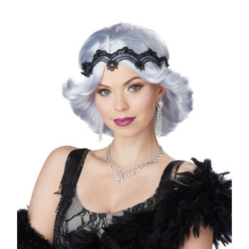 Image de 20'S GLITZ/GLAMOUR WIG WITH HEADBAND - LILAC/GREY