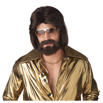 Picture of 70'S WIG/BEARD AND MUSTACHE SET - BROWN