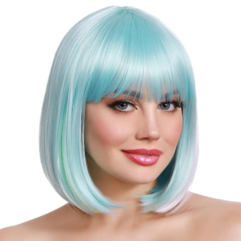 Picture of BOB WIG  - LT BLUE/PINK/YELLOW/LILAC