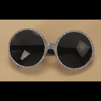 Picture of 70'S ROUND GLITTER GLASSES - SILVER
