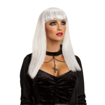 Picture of GLITTER VAMP WIG - ADULT - WHITE