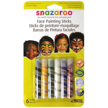 Image de SNAZAROO - PAINTING STICKS - ASSORTED 6/SET