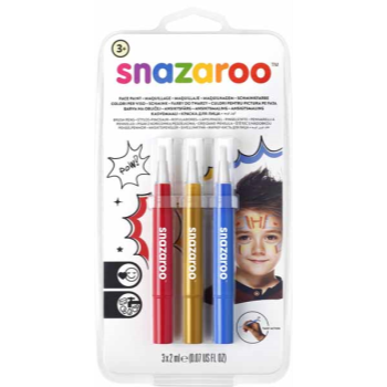 Image de SNAZAROO - BRUSH PENS - ADVENTURE (BLUE,GOLD,RED)