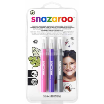 Picture of SNAZAROO - BRUSH PENS - FANTASY (PINK,PURPLE,SILVER)