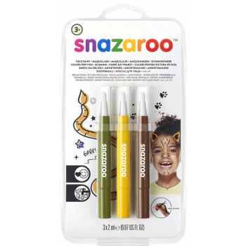 Image de SNAZAROO - BRUSH PENS - JUNGLE (BROWN,GREEN,YELLOW)