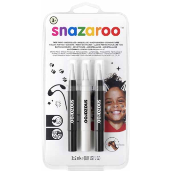 Image de SNAZAROO - BRUSH PENS - MONOCHROME (BLACK,WHITE)