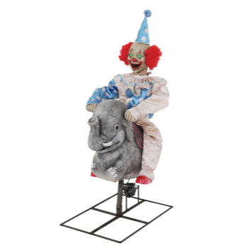Picture of ROCKING ELEPHANT CLOWN ANIMATED PROP