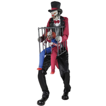 Picture of 7' ROTTEN RINGMASTER WITH CLOWN ANIMATED PROP