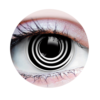 Picture of HYPNOTIZED I - CONTACT LENSES BLACK SPIRAL