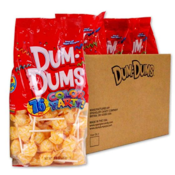 Image de 75ct DUM DUMS CREAM SODA LOLLIPOPS - YELLOW WRAPPER