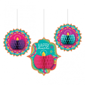 Picture of DIWALI HONEYCOMB HANGING DECORATION