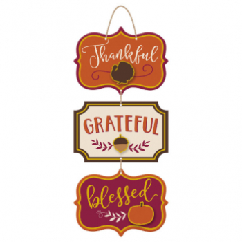 Picture of THANKFUL GRATEFUL BLESSED TRIPLE SIGN