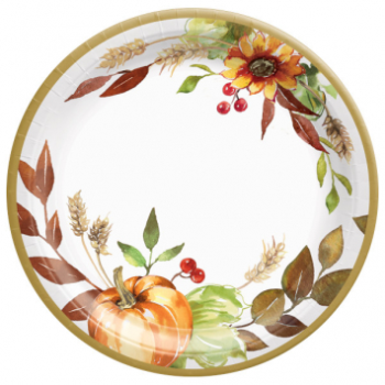 "Picture of GRATEFUL DAY - 7"" PAPER PLATES MID-CT"
