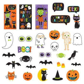Picture of HALLOWEEN FRIENDS SCENE SETTER DECORATING KIT