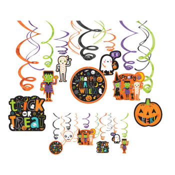 Picture of HALLOWEEN FRIENDS SWIRL DECORATIONS