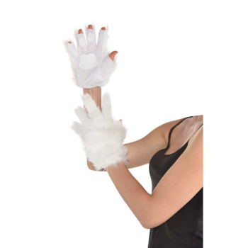 Image de ANIMAL - WHITE FURRY GLOVES